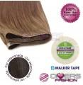 Extensões adesivas skinweft cabelo liso cor Nº2