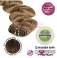 Extensões adesivas skinweft cabelo ondulado cor Nº6
