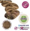 Extensões adesivas skinweft cabelo ondulado cor Nº8