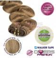 Extensões adesivas skinweft cabelo ondulado cor Nº16