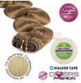 Extensões adesivas skinweft cabelo ondulado cor Nº24