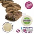 Extensões adesivas skinweft cabelo ondulado cor Nº613