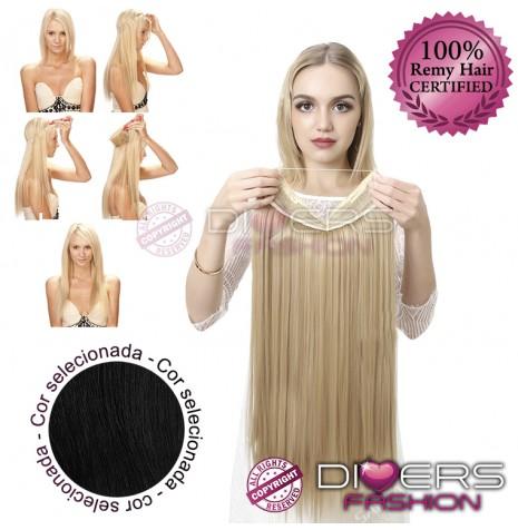 Extensões Fio invisível cabelo liso - cor Nº1