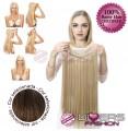 Extensões Fio invisível cabelo liso - cor Nº6