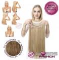 Extensões Fio invisível cabelo liso - cor Nº8