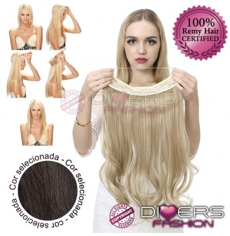 Extensões Fio invisível cabelo ondulado - Cor Nº2