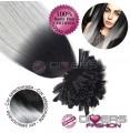 Extensões de queratina cabelo liso cor CALIFORNIANA Nº1/CINZA