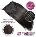 Extensões CLIPS / TICTAC cabelo liso kit 8 bandas XL - cor Nº2