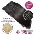 Extensões CLIPS / TICTAC cabelo liso kit 8 bandas XL - cor Nº24