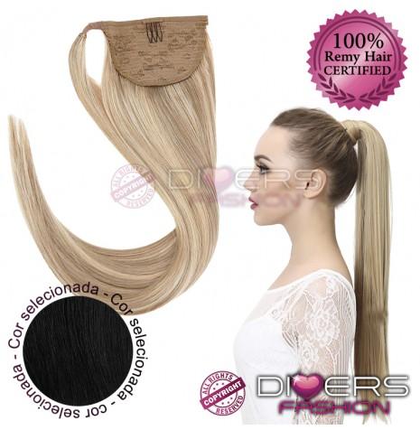 Rabo de cavalo cabelo 100% natural liso