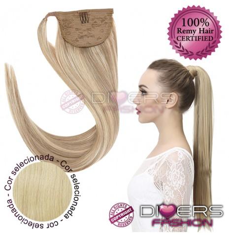 Rabo de cavalo cabelo 100% natural liso - Cor Nº613