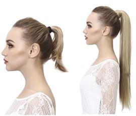 Rabo de cavalo cabelo 100% natural liso - Cor Nº1