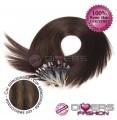 Extensões anilhas LOOP cabelo liso cor MADEIXA Nº2/8