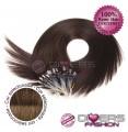 Extensões anilhas LOOP cabelo liso cor CALIFORNIANA Nº6/8