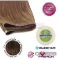 Extensões adesivas skinweft cabelo liso cor Nº6