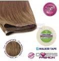 Extensões adesivas skinweft cabelo liso cor Nº8