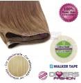 Extensões adesivas skinweft cabelo liso cor Nº24