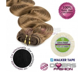 Extensões skinweft cabelo ondulado