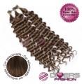 Extensões anilhas ponta em I cabelo crespo cor Nº6