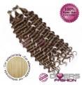 Extensões anilhas ponta em I cabelo crespo cor Nº24