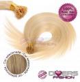 Extensões anilhas ponta em I cabelo liso cor Nº16