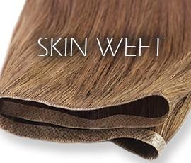 Extensões adesivas skin-weft